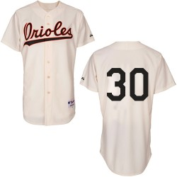 Men's Majestic Baltimore Orioles 30 Chris Tillman Authentic Cream 1954 Turn Back The Clock MLB Jersey