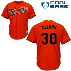 Men's Majestic Baltimore Orioles 30 Chris Tillman Authentic Orange Alternate Cool Base MLB Jersey