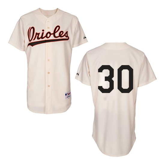 Men's Majestic Baltimore Orioles 30 Chris Tillman Replica Cream 1954 Turn Back The Clock MLB Jersey