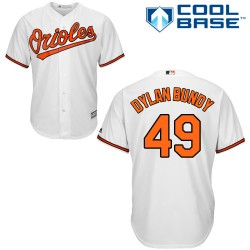 Men's Majestic Baltimore Orioles 49 Dylan Bundy Authentic White Home Cool Base MLB Jersey