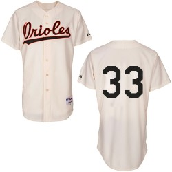 Men's Majestic Baltimore Orioles 33 Eddie Murray Authentic Cream 1954 Turn Back The Clock MLB Jersey