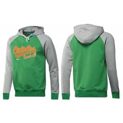 MLB Men's Nike Baltimore Orioles Pullover Hoodie - Green/Grey