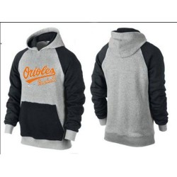 MLB Men's Nike Baltimore Orioles Pullover Hoodie - Grey/Black
