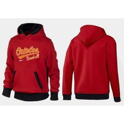 MLB Men's Nike Baltimore Orioles Pullover Hoodie - Red/Black