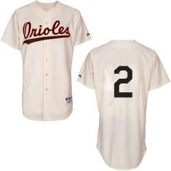 Men's Majestic Baltimore Orioles 2 J.J. Hardy Authentic Cream 1954 Turn Back The Clock MLB Jersey