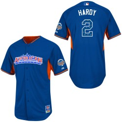 Men's Majestic Baltimore Orioles 2 J.J. Hardy Replica Blue American League 2013 All-Star BP MLB Jersey