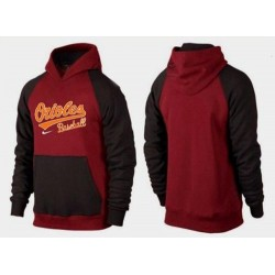 MLB Men's Nike Baltimore Orioles Pullover Hoodie - Red/Brown