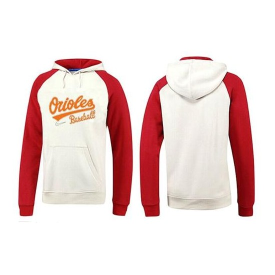 MLB Men's Nike Baltimore Orioles Pullover Hoodie - White/Red