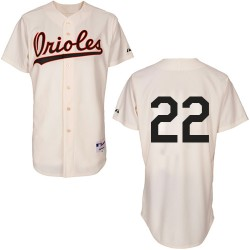 Men's Majestic Baltimore Orioles 22 Jim Palmer Replica Cream 1954 Turn Back The Clock MLB Jersey