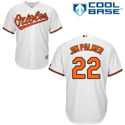 Men's Majestic Baltimore Orioles 22 Jim Palmer Replica White Home Cool Base MLB Jersey