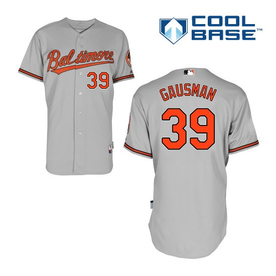 Men's Majestic Baltimore Orioles 39 Kevin Gausman Authentic Grey Road Cool Base MLB Jersey