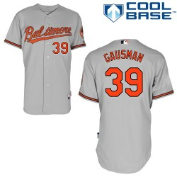 Men's Majestic Baltimore Orioles 39 Kevin Gausman Replica Grey Road Cool Base MLB Jersey