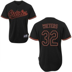 Men's Majestic Baltimore Orioles 32 Matt Wieters Replica Black Fashion MLB Jersey