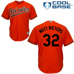 Men's Majestic Baltimore Orioles 32 Matt Wieters Replica Orange Alternate Cool Base MLB Jersey