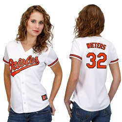 Women's Majestic Baltimore Orioles 32 Matt Wieters Replica White MLB Jersey