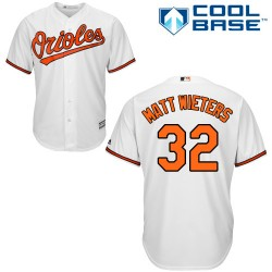Youth Majestic Baltimore Orioles 32 Matt Wieters Authentic White Home Cool Base MLB Jersey