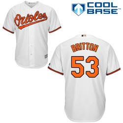 Men's Majestic Baltimore Orioles 53 Zach Britton Authentic White Home Cool Base MLB Jersey
