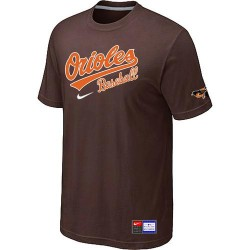 MLB Men's Baltimore Orioles Nike Practice T-Shirt - Brown