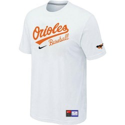 MLB Men's Baltimore Orioles Nike Practice T-Shirt - White