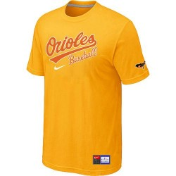 MLB Men's Baltimore Orioles Nike Practice T-Shirt - Yellow